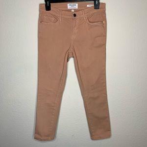 Frame Le Skinny de Jeanne Crop Nude Jeans Size 28